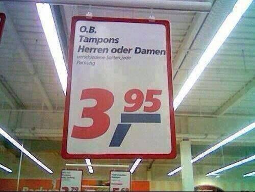 Gleichberechtigung Tampon
